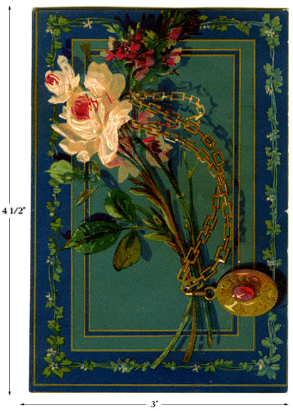 Great American Tea Company Rose and Pendant Card