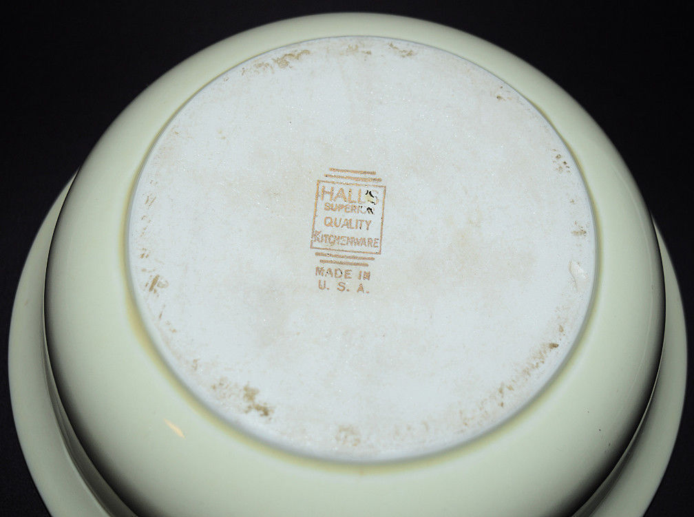 """HALL CHINA SILHOUETTE 8"""" FLARED BOWL Backstamp"""