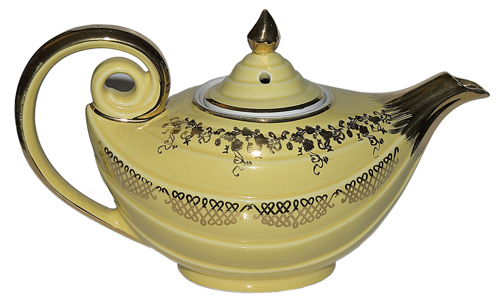 Hall China Squiggel Aladdin Teapot