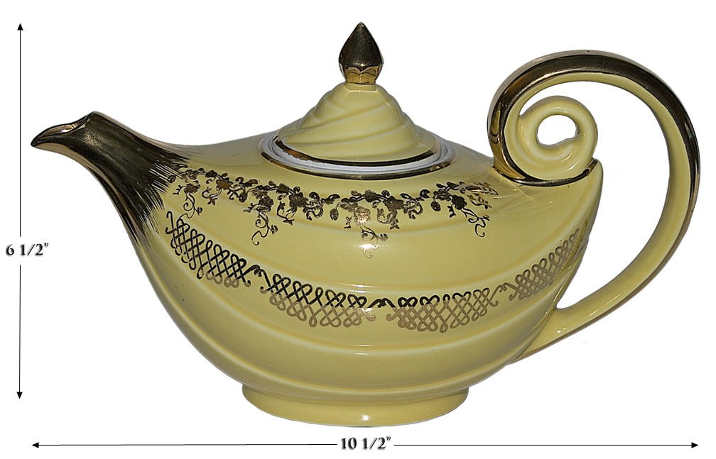 Hall Canary Aladdin Squiggle Teapot