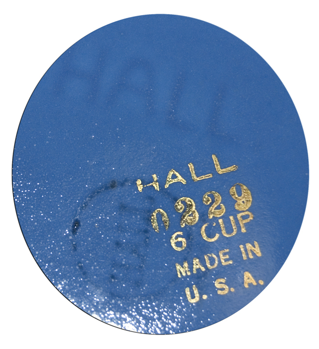 Hall Albany Cadet Blue with Gold Bottom