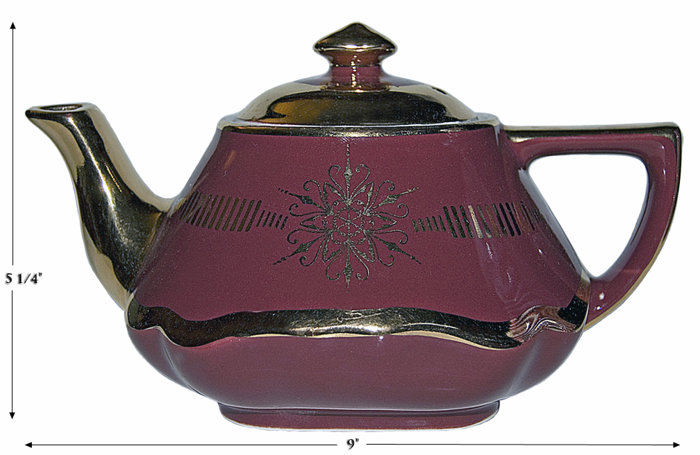 Hall Maroon Gold Label Baltimore Teaopt