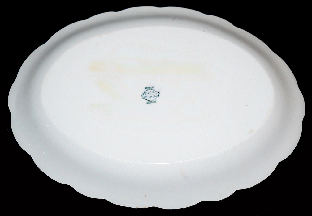 Hall China Early Fish Oval Platter The Back