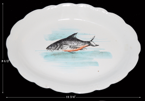 Hall China Early Fish Oval Platter