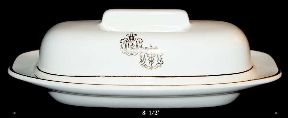 HALL CHINA RX BUTTER DISH