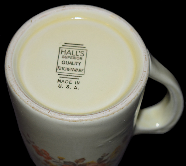 HALL Gaillardia Tankard Mug Backstamp