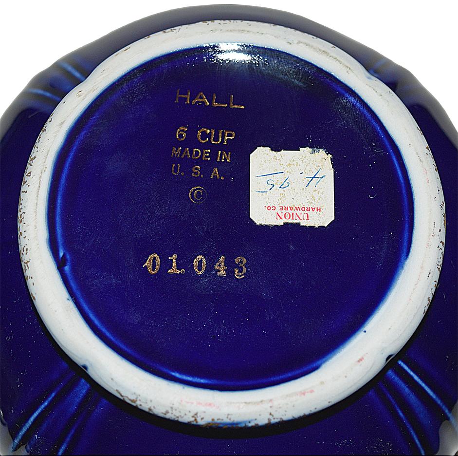 Hall Cobalt Grape Teapot Backstamp