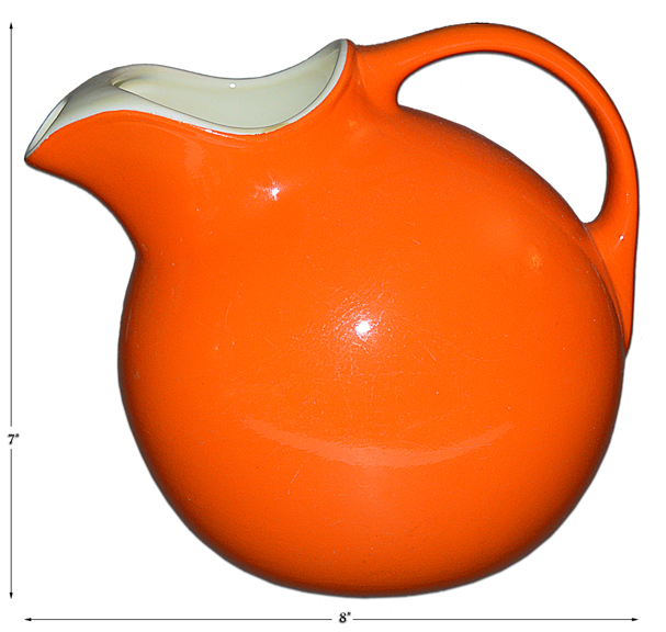 Hall Indian Red Ball Jug / Pitcher