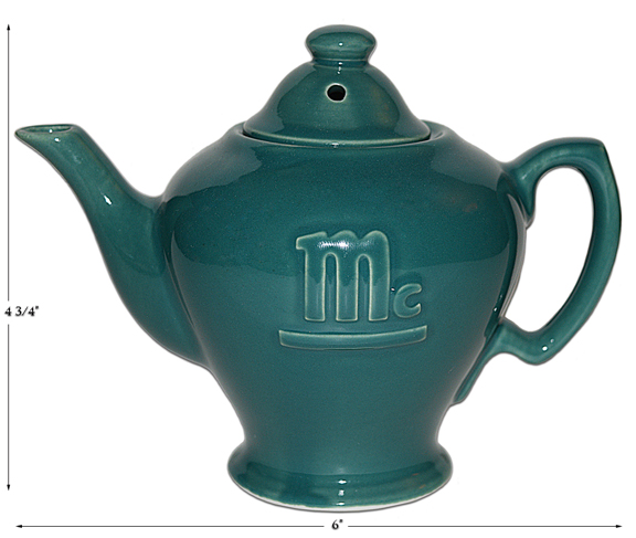 Hall Turquoise 2 Cup McCormick Teapot