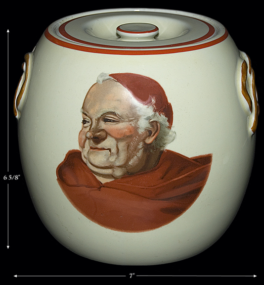 Hall Red Monk Pretzel Jar