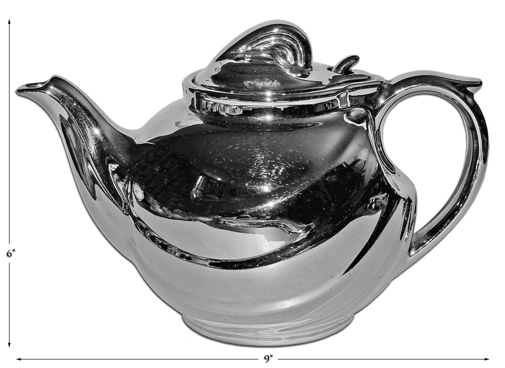 Hall China Silver Parade Teapot
