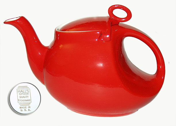 Hall Streamline Teapot On White