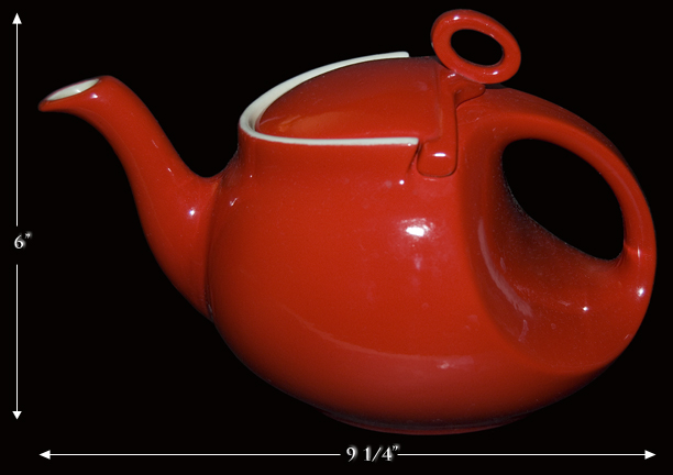 Hall Red Streamline Teapot