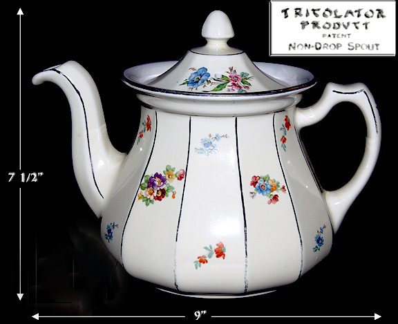 HALL BUCHANAN FLORAL DECORATED COFFEE POT