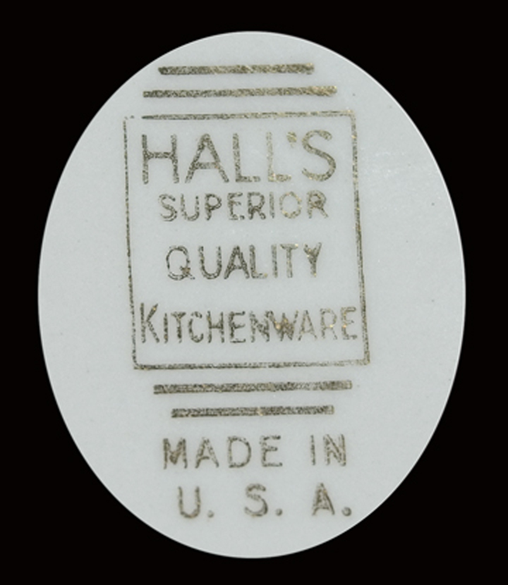 HALL WILDFIRE THICK RIMMED DRIP SET BACKSTAMP