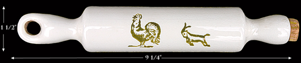 Rooster and Goat Harker Child's Rolling Pin