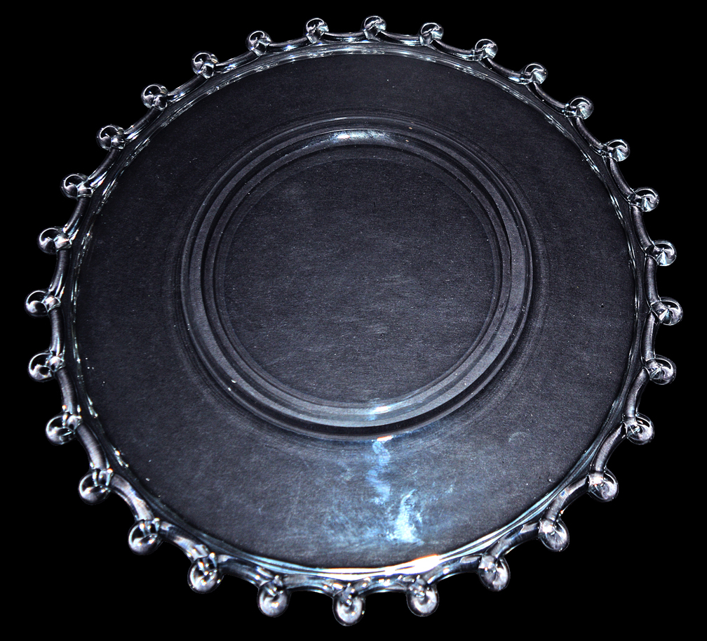 Heisey Lariat Dinner Plate Back