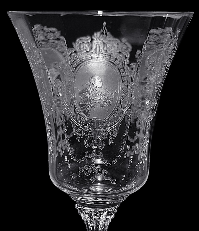 Heisey Minuet Wine Goblet Another View
