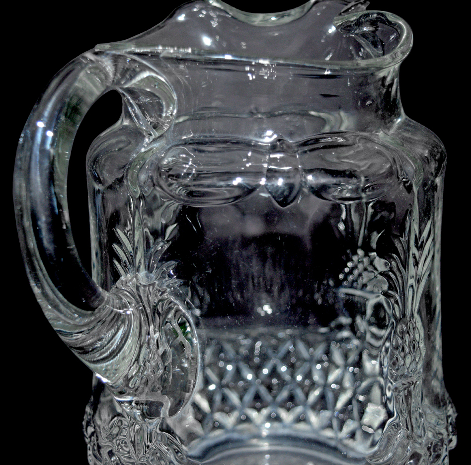 Heisey Plantation Pitcher / Water Jug The Handle