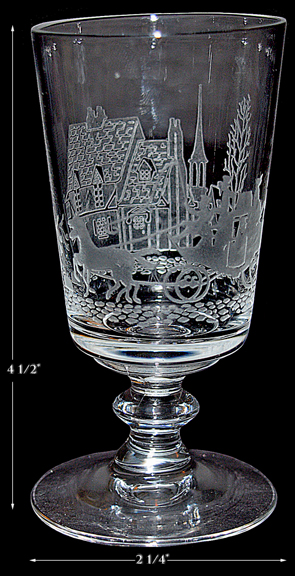 Heisey Tally Ho #4002 , 4oz. Cocktail Glass