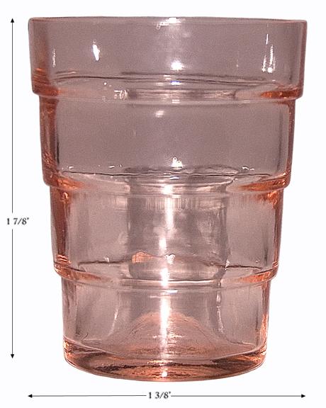 Block Pink Shot / Whiskey Tumbler