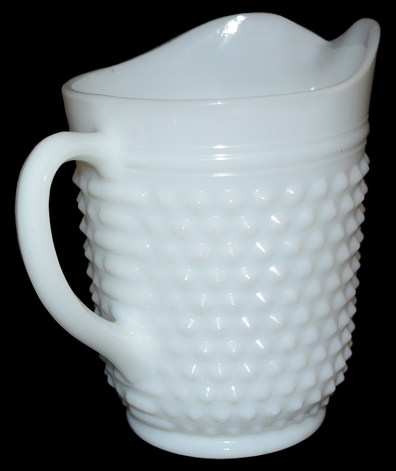 Hocking Hobnail MG Pitcher The Back