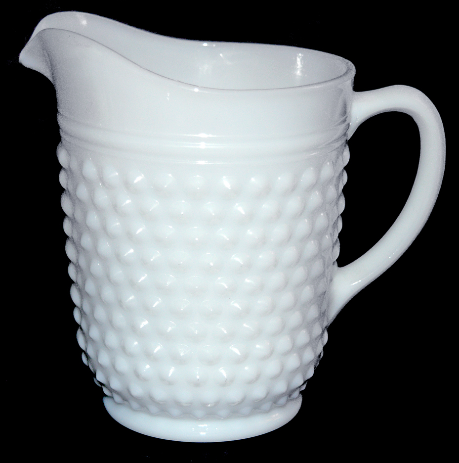 Hocking Hobnail MG Pitcher