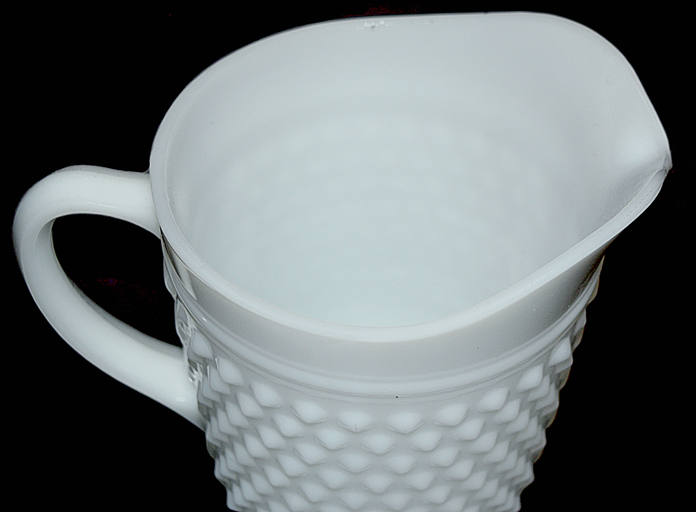 Hocking Hobnail MG Pitcher The Top