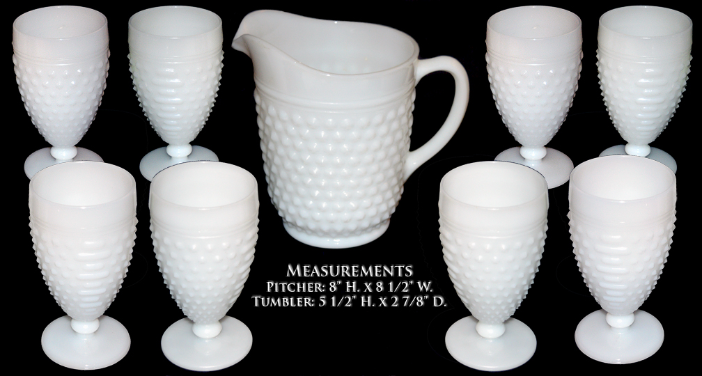 Hocking Hobnail 1970s Pitcher and Tumbler Set