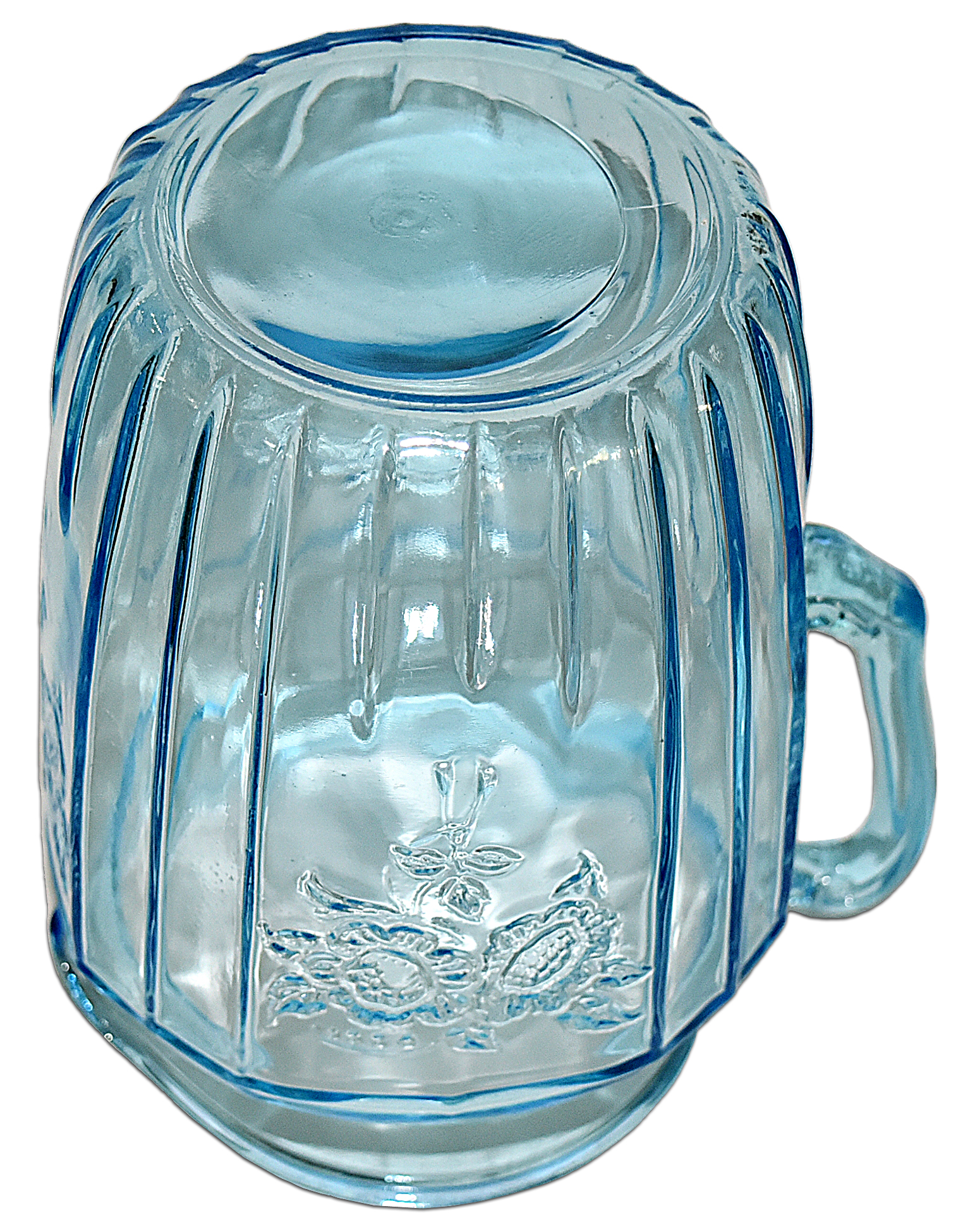 Hocking Blue Mayfair Large Pitcher / Jug Bottom