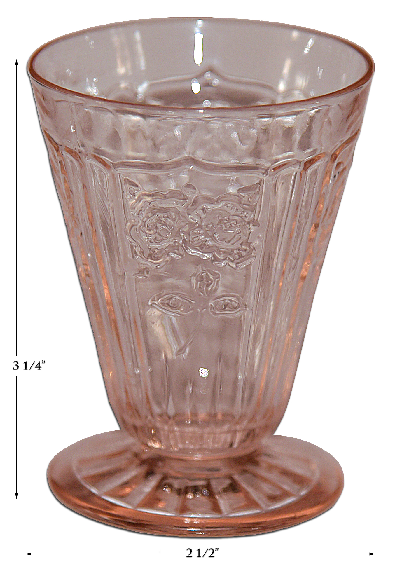 Hocking Pink Mayfair Footed Juice Tumbler