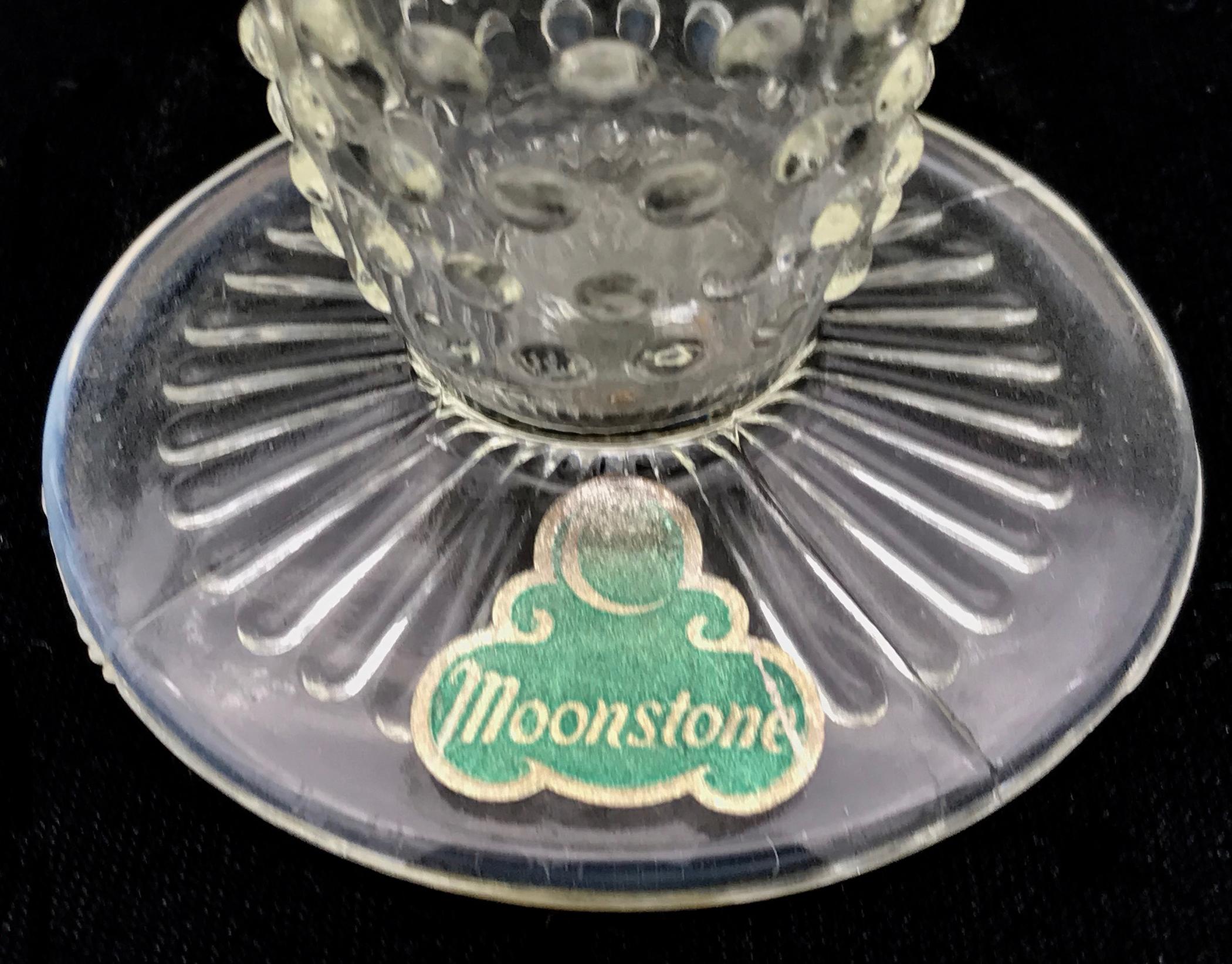 Anchor Hocking Moonstone Vase Base with Label