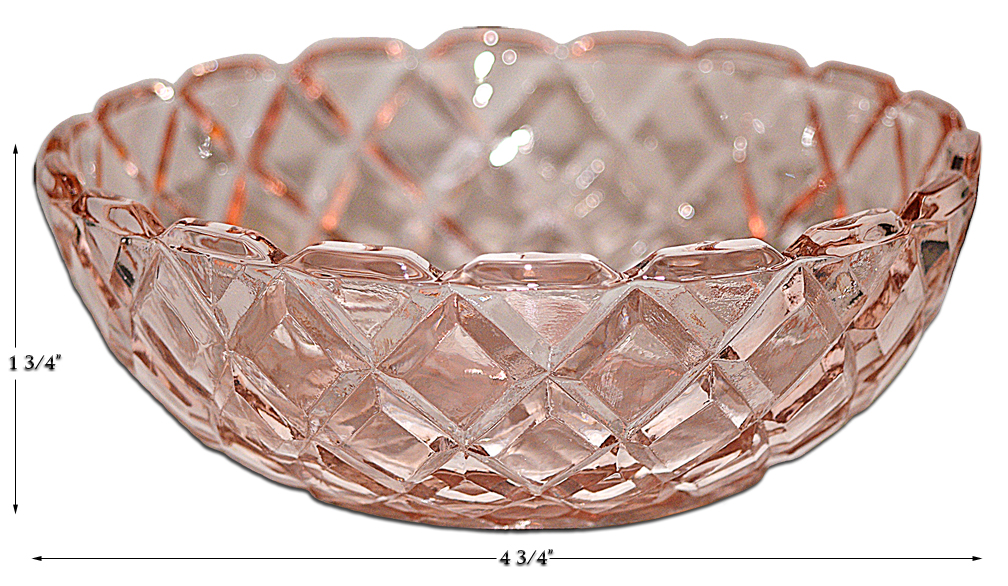 Hocking Pink Waterford Small Berry Bowl