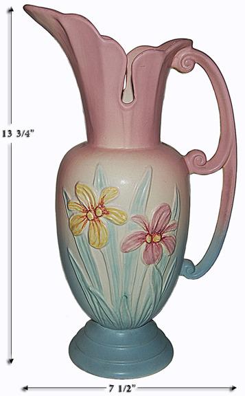 Hull Pottery Large Iris Ewer