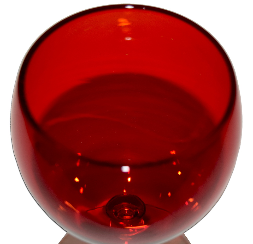 Imperial Candlewick #3800 Ruby Goblet Inside