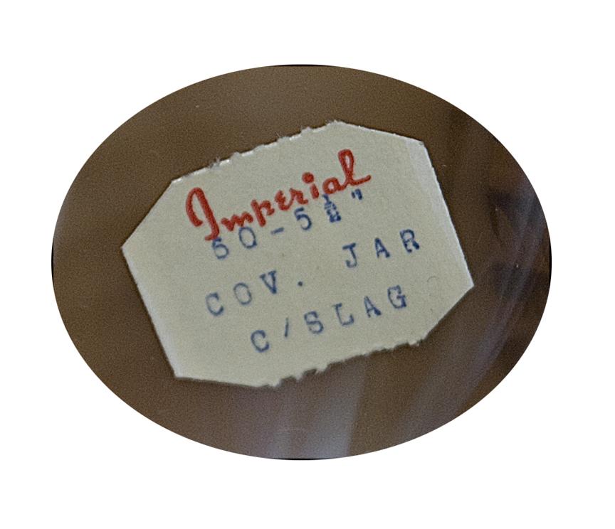 Imperial Caramel Slag Honey Pot Paper Label