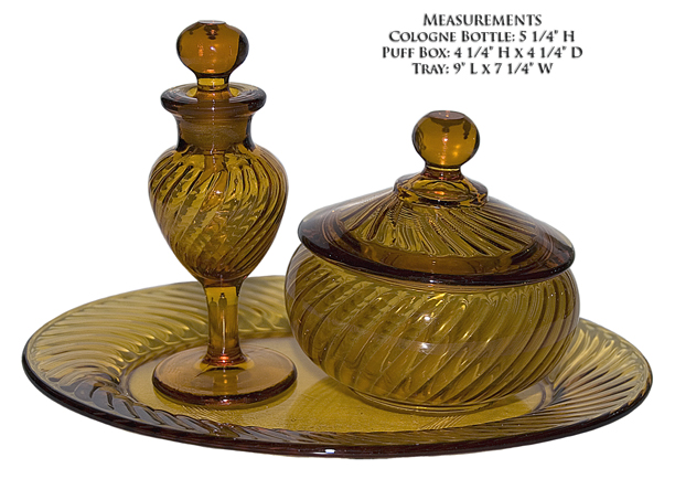 Imperial Amber Twisted Optic Vanity Set