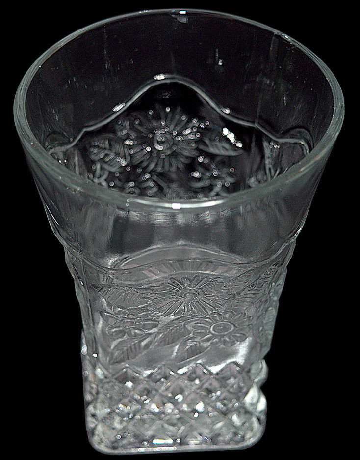 Pineapple and Floral Crystal Tumbler Another view
