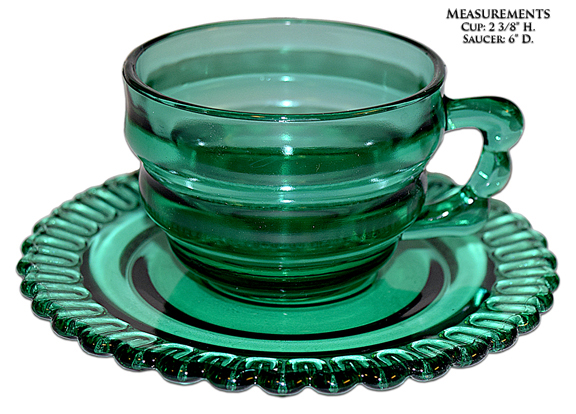 Indiana Teal Christmas Candy Cup and Saucer