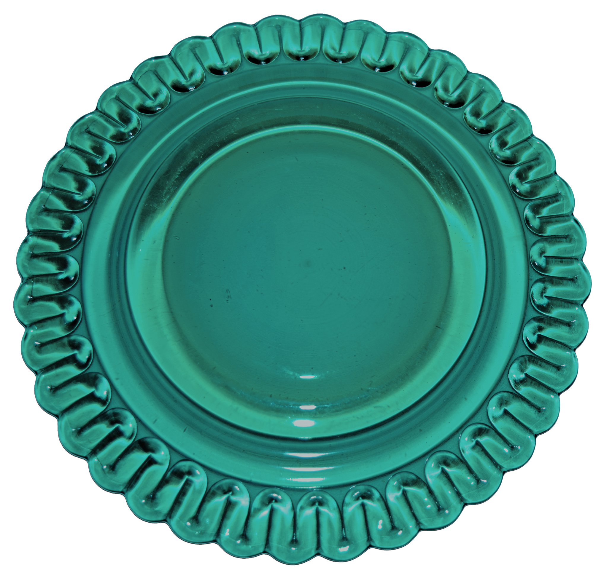Indiana Teal Christmas Luncheon Plate Back