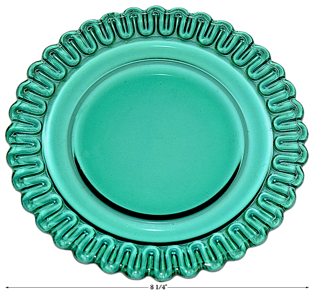 Indiana Teal Christmas Luncheon Plate
