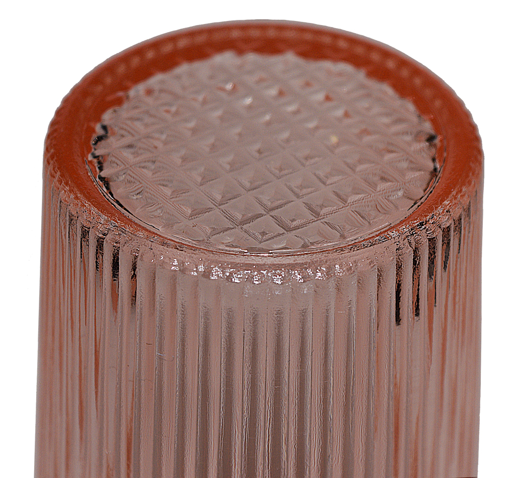 Jeannette Pink Ice Tea Tumbler Bottom