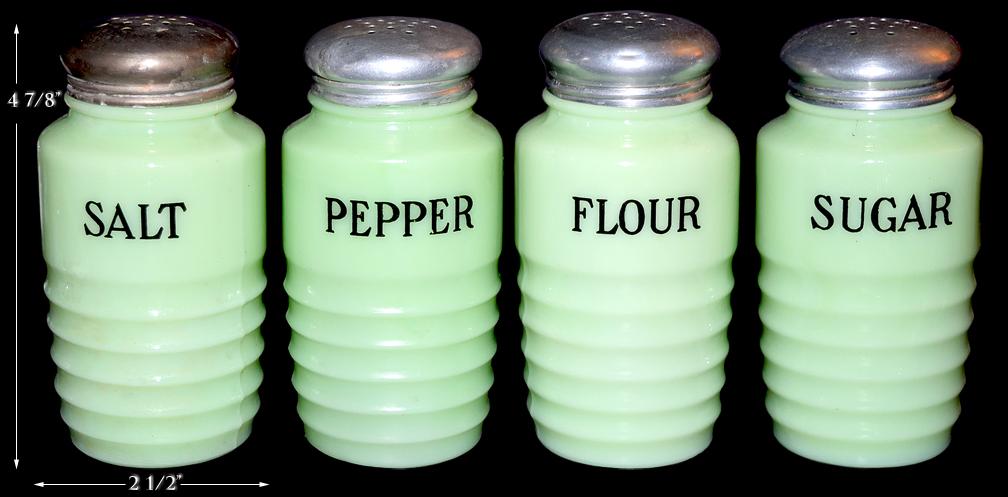 Jeannette Ribbed Salt / Pepper / Sugar and Flour