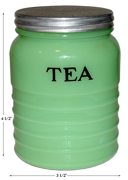 JEANNETTE RIBBED TEA CANISTER