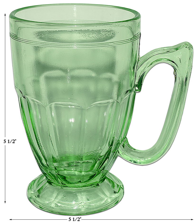 Jeannette Green Kitchen Glass Mug