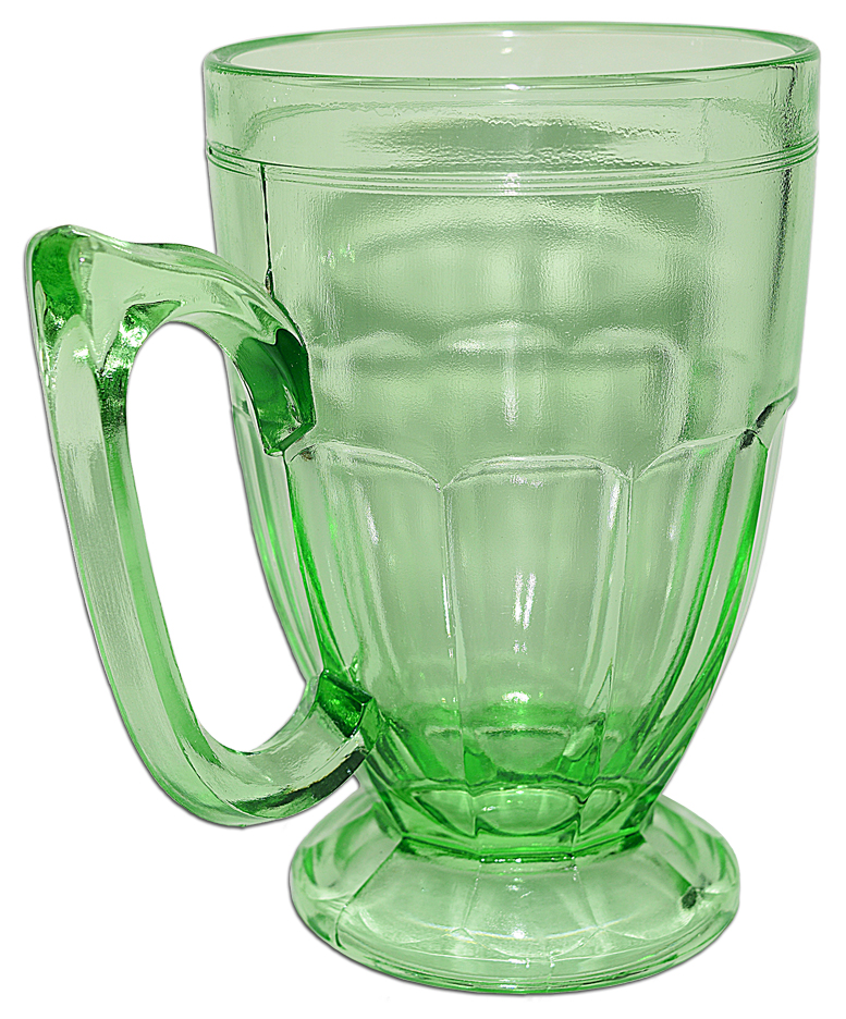 Jeannette Green Kitchen Glass Mug THE OTHER SIDE