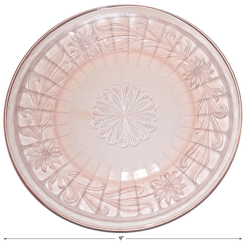 Jeannette Pink Sunflower Dinner Plate