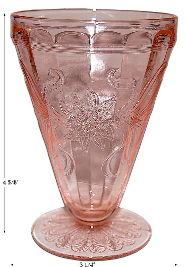 Jeannette Pink Sunflower Footed Tumbler