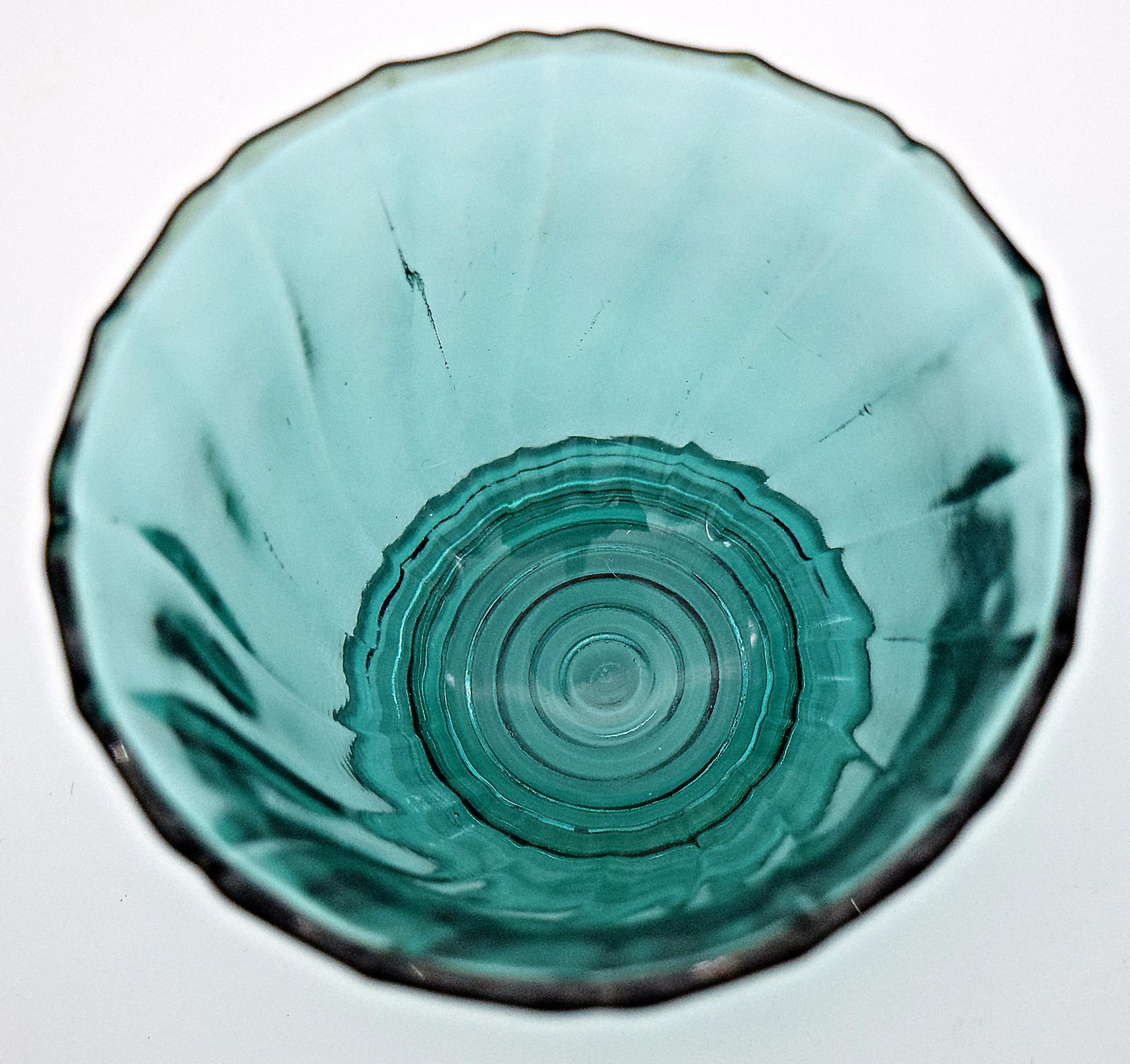 Jeannette Ultramarine Swirl Sherbet Inside