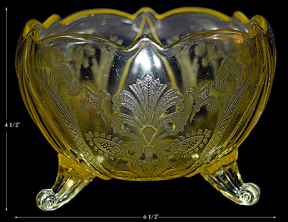 Lancaster Glass Carolyn Footed Rose Bowl